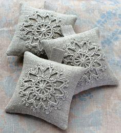 Lavender sachets  crochet motif  set of 3 by namolio on Etsy, $25.00
