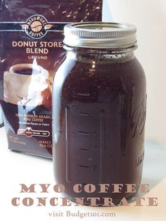 MYO: Coffee Concentrate - Learn how to make Perfect Iced Coffee with this easy cold-brewed coffee concentrate recipe- all the flavor of sweet iced coffee without the bitterness of burned hot brew for perfect iced coffee anytime (click on photo for recipe)