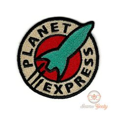 Planet Express Inspired  Iron-on Patch by SeamsGeeky on Etsy
