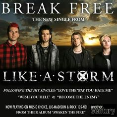 Like A Storm single Like A Storm, Break Free, Awakening, Wish, Hate, Album, Music, Muziek, Music Activities