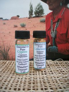 Cypress or Cedarwood Essential Oils.  Two wonderfully refreshing and invigorating, woody evergreen aromas. Essential oils are the life-force