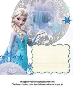 Invitaciones de frozen-Imagenes y dibujos para imprimir