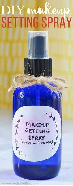 Did you know you can make your own makeup setting spray for a fraction of the cost of the most popular brands AND it works! Best of all, you can personalize it for your own preferences.