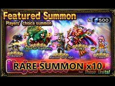 35 Fantastiche Immagini Su Ffbe Rare Summon Pull Final Fantasy