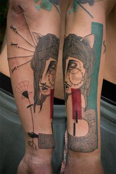 Stunning Tattoos by Art Collaborators Expanded Eye tattoos illustration