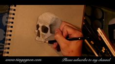 Sketchbook Diaries - How to draw, Cross Hatching - a halloween skull drawing with Tim Gagnon Painting Videos, Painting Lessons, Online Painting, Art Lessons, Drawing Techniques, Drawing Tips, Cross Hatching, Learning Styles, Photo Link