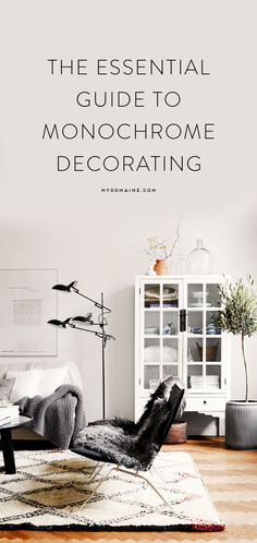 Monochrome decorating 101 I dream of having a monochrome/industrial feel in our house one day! Interior Design Inspiration, Home Decor Inspiration, Monochrome Interior, Cool House Designs, Contemporary Decor, Minimalist Home, Home And Living, Living Room, Decoration