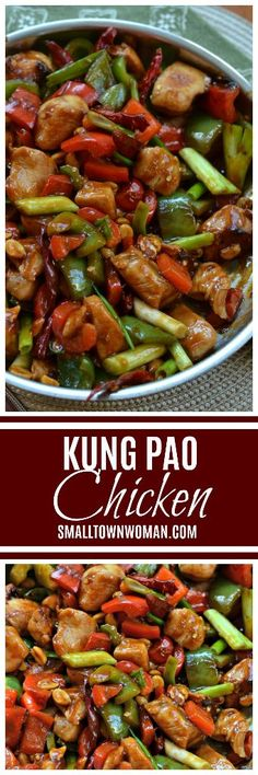 One Skillet Kung Pao Chicken - Asian Eats and Stir-Fry's - Spicy Recipes, Asian Recipes, Chicken Recipes, Cooking Recipes, Healthy Recipes, Ethnic Recipes, Chinese Recipes, Chicken Meals, Whole30 Recipes