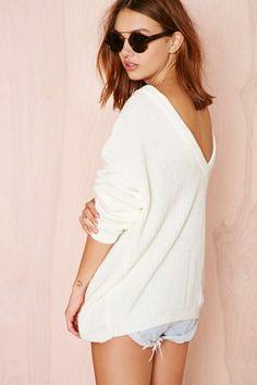 V Back Sweater - Pullover