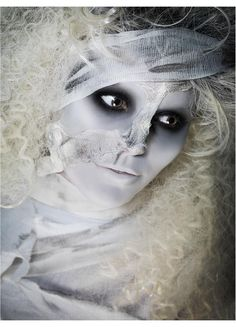 ghostly white mummy makeup