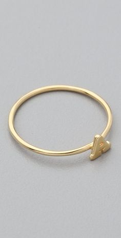 Initial Ring. Would be cute to have one with each kid's initial.