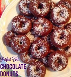Perfect Fit Chocolate Donuts! Shared by Allison. Ingredients: 1 scoop chocolate Perfect Fit Protein, 1 tsp baking powder, 3 tbsp coconut oil, 1 tsp vanilla extract, 1 cup unsweetened vanilla almond milk, 1/3 cup egg whites, 2 tbsp cocoa powder, 1 tsp stevia (optional), Dash of cinnamon.
