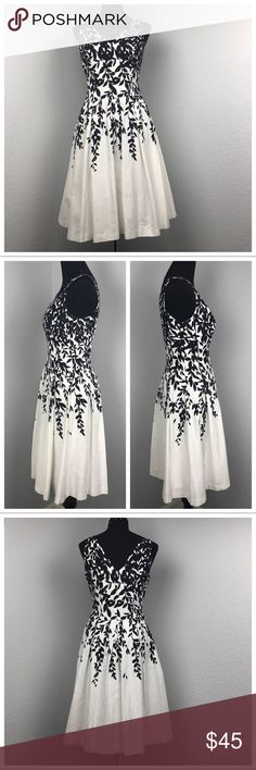 """Lauren Ralph Lauren Floral Fit & Flare Dress Pre owned in great condition (as the pics show). Such a pretty special occasion/garden party/brunch dress.                         Measurements: Bust= 18.25"""" Waist= 15.75"""" Length= 38.5""""                                          Open to reasonable offers  Lauren Ralph Lauren Dresses Midi"""