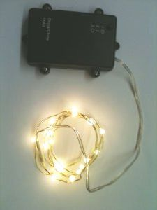 DD18 - 18 LED and 36 LED Copper Wire String Lights with Dew Drop LEDs.