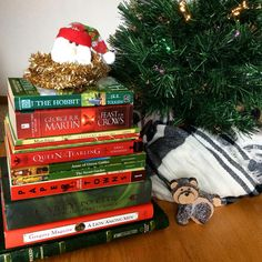 Thought I'd try my hand at a #christmasbooktree and it was a lot of fun!  #happyholidays #bookstagram #igreads #bookblogger #TheBooksWereBetter