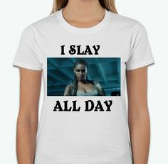 A personal favorite from my Etsy shop https://www.etsy.com/listing/458019822/slay-all-day