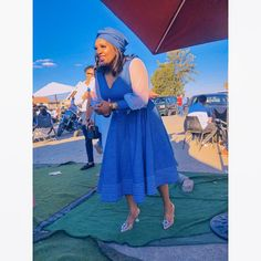 Spiffy Fashion traditional dresses from South Africa - African Attire, African Fashion Dresses, African Dress, Fashion Outfits, African Outfits, Fashion Ideas, Seshweshwe Dresses, Bridesmaid Dresses, African Traditional Wear