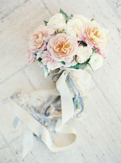 Pastel Rose Bouquet | Erich McVey Photography | Graceful Southern Spring Wedding in the Country with Delicate Pastels