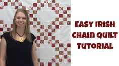 Irish Chain quilts look complicated, but they're actually very easy and fast to piece! Learn how to make a Double Irish Chain this beginner quilting tutorial. Beginner Quilt Patterns, Beginner Quilting, Quilting For Beginners, Quilt Patterns Free, Free Motion Quilting, Quilting Tips, Quilting Tutorials, Machine Quilting, Irish Chain Quilt