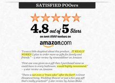 Amazon customer reviews for toilet spray! Who would have thought?! Toilet Spray, Gifts For Family, It Works, Poo Pourri, Thoughts, How To Plan, Amazon, Riding Habit, Tanks