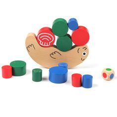 Wooden Snail Balance Toy Building Blocks Children Early Educational Toys Montessori Balancing Toys Kids Game Gift //Price: $9.95 & FREE Shipping //     #educationaltoysbenefits