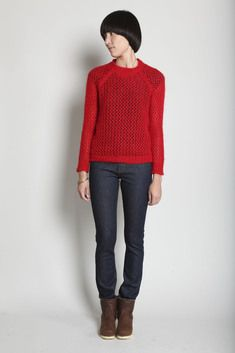 bold red pull by Isabel marant
