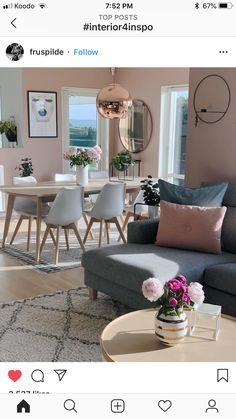 Lounge – like the sofa and putting the rug underneath Salong – som sofaen og legg teppet under Living Room Colors, Living Room Grey, Living Room Interior, Home And Living, Rustic Apartment, Apartment Living, Couch Furniture, Living Room Furniture, Decor Room