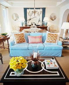 Saturated Style (Color of blue couch is nice.)