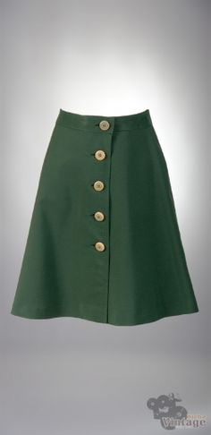 Vintage 60´s mini green retro skirt