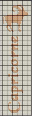 grille gratuite marque page - au fil de mes croix Cross Stitch Letters, Cross Stitch Bookmarks, Horoscope Signs, Horoscopes, Zodiac Capricorn, Crochet Art, C2c, Loom Weaving, Le Point