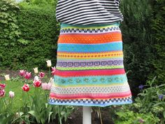 Miniröcke - Bunter Baumwoll Strickrock Sina Gr. M - ein Designerstück von Lotta_888 bei DaWanda