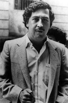 Pablo Emilio Escobar Gaviria was a Colombian drug lord and narco-terrorist. His cartel supplied almost all of the cocaine smuggled into the United States. Pablo Emilio Escobar, Real Gangster, Mafia Gangster, Narcos Escobar, Narcos Pablo, Al Capone, Film Serie, Thug Life, Gangsters