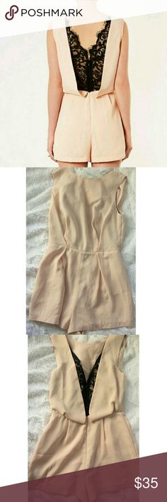 💲SALE TODAY ONLY💲 TopShop Blush Romper Very beautiful blush Romper in perfect shape. Worn only once. Too cute to be stuck in my closet. Topshop Pants Jumpsuits & Rompers