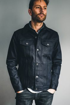 Type 3s Jacket from 3Sixteen.  Japanese Selvedge denim that produces incredible fades. Available at The Revive Club.  #thereviveclub #3sixteen #denim #selvedgedenim #denimjackets