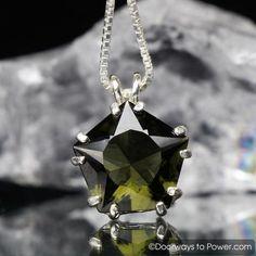 Moldavite Star of Venus Pendant Signature Collection