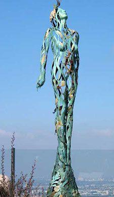 Earth, Water, Air bronze sculpture by Linda Brunker