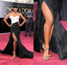 Kelly Rowland-Donna Karen Atelier  Fashion hits and misses: The 2013 Oscars