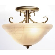 Cheri Close To Ceiling Pendant in Antique Brass,Lighting,Beacon Lighting