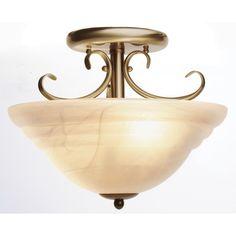 Cheri Close To Ceiling Pendant in Antique Brass,Lighting,Beacon Lighting