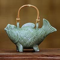 Putu Oka Mahendra | Ceramic Teapot 'Lucky Koi'
