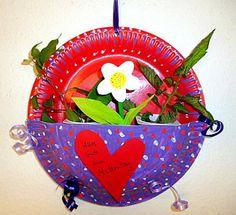 bloemenhanger voor moederdag knutselen met kleuters