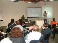 """22 ottobre 2013: Seminario su """"QR Code e Realtà Aumentata"""", organizzato per CNA Viterbo presso l'ICult (Bic Lazio) di Viterbo, e tenuto da Francesco Aliperti e Bruno Blanco."""