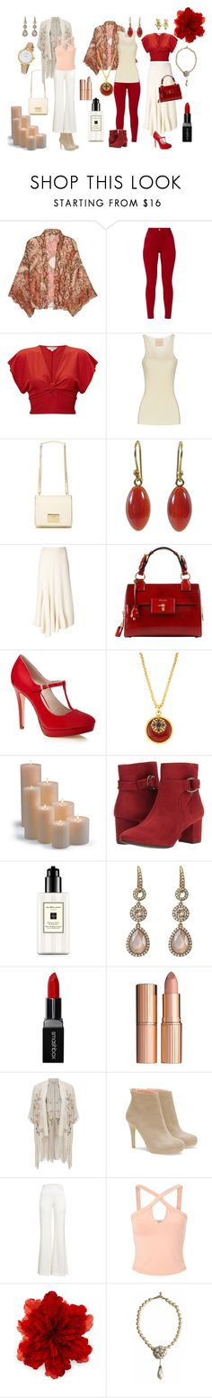 """""""Rachel's Zyla Colors 1"""" by laura-winters-1 on Polyvore featuring Free People, Miss Selfridge, Erika Cavallini Semi-Couture, Love Moschino, Ted Muehling, Ports 1961, Jose & Maria Barrera, Frontgate, White Mountain and Jo Malone"""