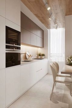 Luxury Kitchen Design, Kitchen Room Design, Kitchen Cabinet Colors, Home Design, Home Decor Kitchen, Kitchen Interior, Kitchen Cabinets, Design Ideas, Modern Cabinets