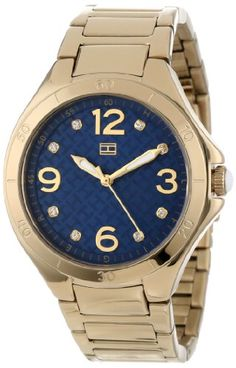 Tommy Hilfiger Women s 1781317 Casual Sport Gold-Plated Case and Bracelet  with Crystals Dial Watch 84f53967654