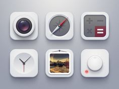 Beautiful minimal icon designs. Love the white colour scheme, looks very clean and sophisticated.