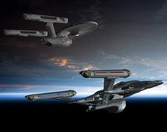 Star Trek Bridge Commander pic The Enterprise from Star Trek: Phase II and the Enterprise from Star Trek Enterprise& possible season 5 Phase II Enterprise and NX class refit by Wileycoyote Backgro.