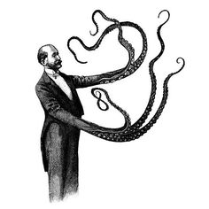 Steampunk Tendencies | Dan Hillier  #Ilustration #Victorian #Tentacles