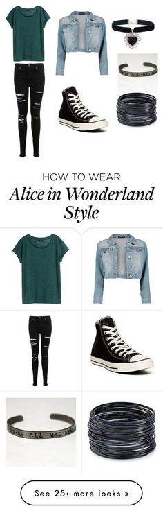 """""""Untitled #67"""" by devonmichelleb on Polyvore featuring Miss Selfridge, H&M, Converse, Boohoo, Rock 'N Rose and ABS by Allen Schwartz"""