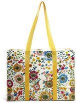 blue q flower field shopper bag with shoulder strap multi